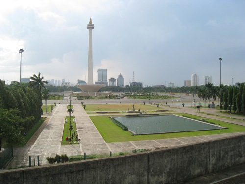 Merdeka Square view from Gambir Station