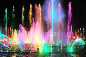 man rizal park colorful fountain