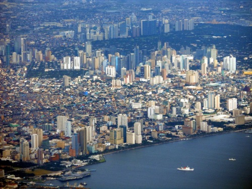 Manila Philippines from the air Aerial Pictures Metro Manila