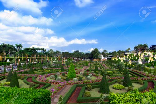 View to French Garden in Nong Nooch.