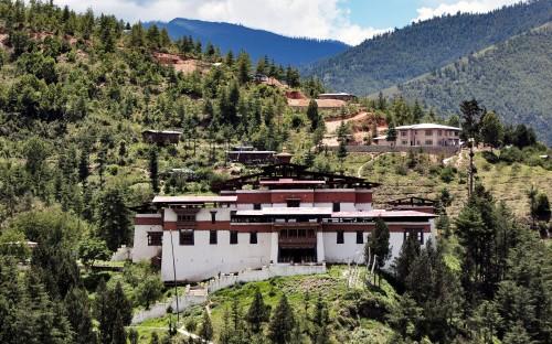 thi Simtokha Dzong Thimphu Bhutan