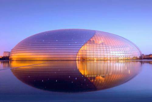 Beijing National Grand Theater, The Egg, Tiananmen, Beijing, China