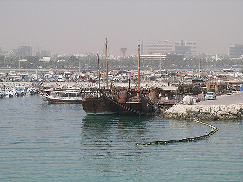 Dhows in harbor