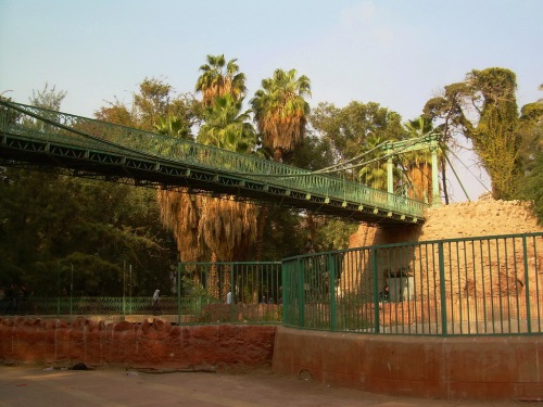 cairo zoo suspension bridge