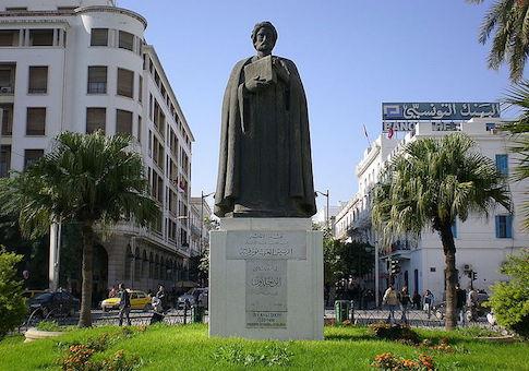 tunis ibn statue