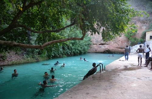 lagos warm spring swimming