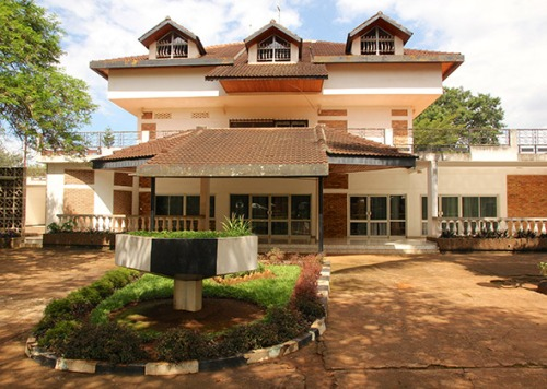The Rwanda State House Museum, built in 1976 as the residence of