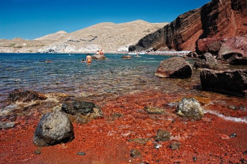 san akrotiri red beach 2
