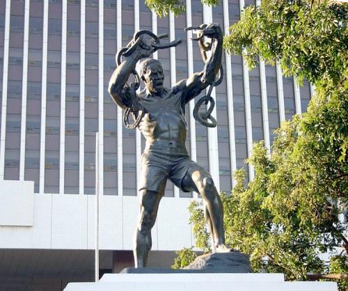 zam Freedom-statue