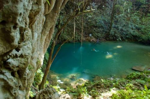 belize blue hole swimming