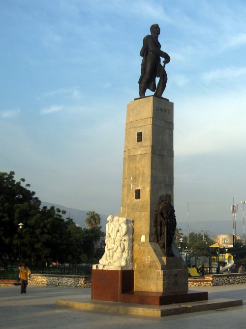 Monument to a founding father of independent Haiti, Alexandre Pétion