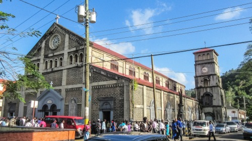 lucia castries square church