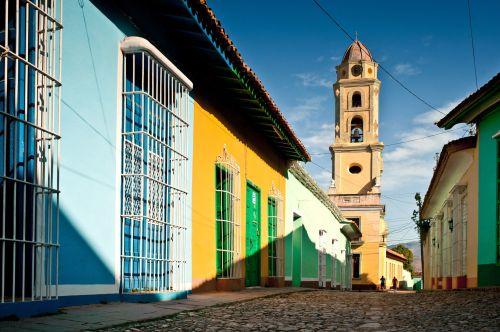 cuba trinidad plaza mayor saint francis