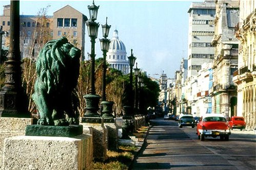 hav prado lion lampposts