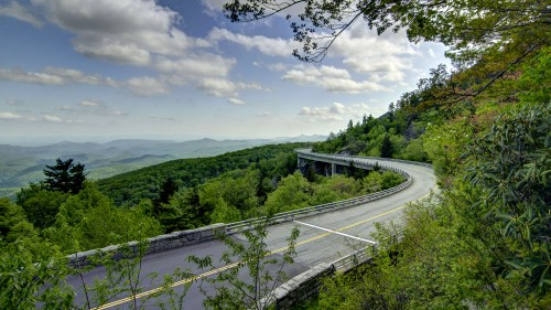 Linn Cove Viaduct at Milepost 304.4 on the Blue Ridge Parkway in NC