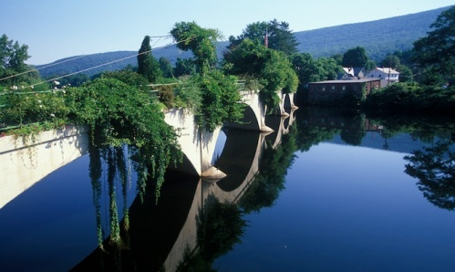 MA:Mohawk Trail,Sheklburne, Bridge of Flowers