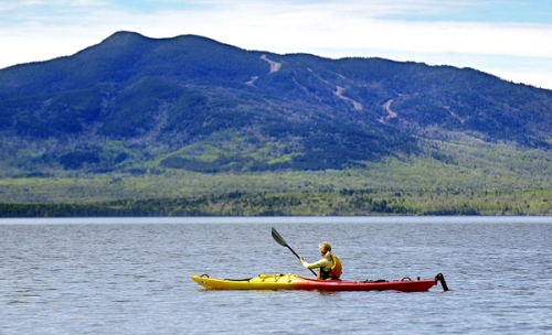 MOOSEHEAD LAKE KAYAKER   BIG MOOSE MOUNTAIN