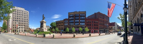 Monument Square panorama, Portland Maine