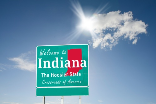 Indiana, Welcome road sign
