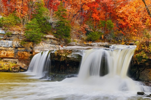 Colorful Cataract Falls
