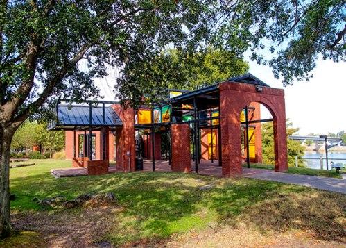 ark riverfront park history pavilion