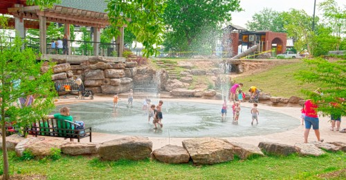 ark riverfront park splash